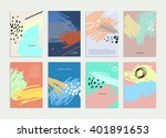 set of hand drawn universal... | Shutterstock .eps vector #401891653