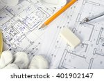 heap of design and project... | Shutterstock . vector #401902147