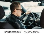 fashionable handsome man in... | Shutterstock . vector #401925043