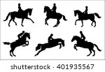 show jumping and dressage.... | Shutterstock .eps vector #401935567