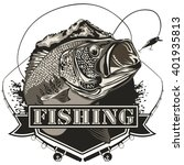 bass fish. perch fishing vector ... | Shutterstock .eps vector #401935813