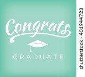 2016 congrats or... | Shutterstock .eps vector #401944723