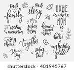 lettering photography overlay... | Shutterstock .eps vector #401945767