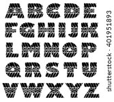 black grunge alphabet in tire... | Shutterstock .eps vector #401951893