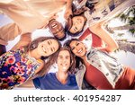 multicutural group of young... | Shutterstock . vector #401954287