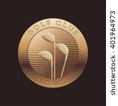 golf club vector logo  icon ...   Shutterstock .eps vector #401964973