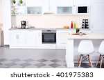 new modern kitchen interior | Shutterstock . vector #401975383