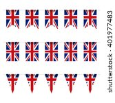 united kingdom flag bunting | Shutterstock . vector #401977483
