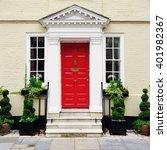 front door of a beautiful old... | Shutterstock . vector #401982367