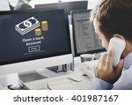 open a bank account banking... | Shutterstock . vector #401987167