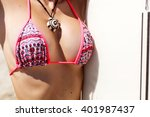 summer colorful closeup of sexy ...   Shutterstock . vector #401987437