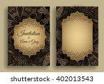 vintage invitation template.... | Shutterstock .eps vector #402013543