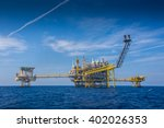 oil and gas processing platform ... | Shutterstock . vector #402026353