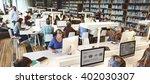library academic computer... | Shutterstock . vector #402030307