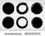 vector grunge circle. grunge... | Shutterstock .eps vector #402050593