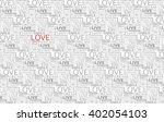 love word cloud  tag cloud ... | Shutterstock .eps vector #402054103