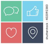social icons | Shutterstock .eps vector #402092383