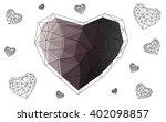 gray heart isolated on white... | Shutterstock .eps vector #402098857