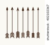 camping symbols. big set of... | Shutterstock .eps vector #402102367