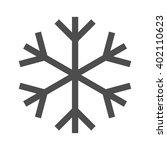 snowflake icon  vector design