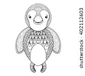 vector penguin for adult... | Shutterstock .eps vector #402112603