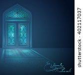 eid mubarak islamic banner...   Shutterstock .eps vector #402117037