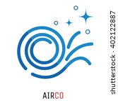 air conditioning logo concept....