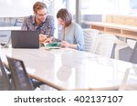 business man and woman working...   Shutterstock . vector #402137107