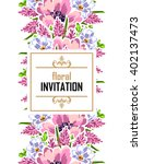 romantic invitation. wedding ... | Shutterstock . vector #402137473
