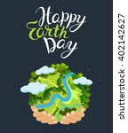 earth day concept. human hands... | Shutterstock .eps vector #402142627