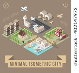set of isolated isometric... | Shutterstock .eps vector #402147973