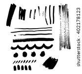 marker stroke set | Shutterstock .eps vector #402178123