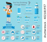 drinking water  for health... | Shutterstock .eps vector #402181957