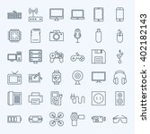 line gadgets and devices icons... | Shutterstock .eps vector #402182143