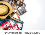 apparel  equipment and tools... | Shutterstock . vector #402192397