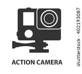 action camera logo. camera for... | Shutterstock .eps vector #402193087