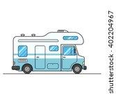 caravan van sign isolated on... | Shutterstock .eps vector #402204967