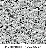 city urban blocks seamless... | Shutterstock .eps vector #402233317