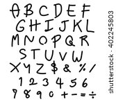 vector handwritten fonts ... | Shutterstock .eps vector #402245803