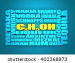 different drinks list. drink... | Shutterstock . vector #402268873