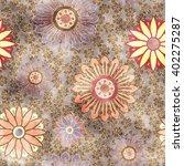 art vintage stylized geometric...   Shutterstock . vector #402275287