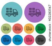 color transport flat icon set...