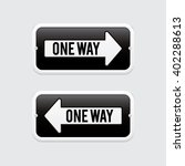 one way signs | Shutterstock .eps vector #402288613