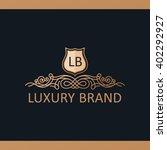 calligraphic crest luxury line... | Shutterstock .eps vector #402292927