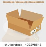 cardboard packaging for... | Shutterstock .eps vector #402298543