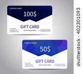 set of gift cards or discount... | Shutterstock .eps vector #402301093