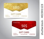 set of gift cards or discount... | Shutterstock .eps vector #402301123