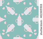 baby bottle pattern   Shutterstock .eps vector #402305503