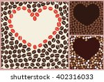 coffee love pattern closeup ... | Shutterstock .eps vector #402316033