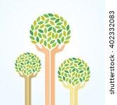 green hand tree for saving the... | Shutterstock .eps vector #402332083